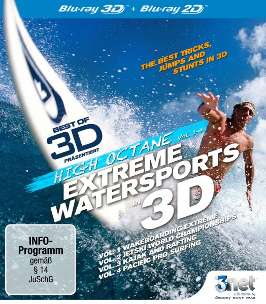 Best of 3D - High Octane: Water Sports 3D Blu-ray Front