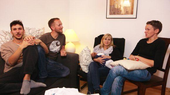 Vier werden Eltern Szenenbild